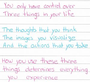 things you have control over